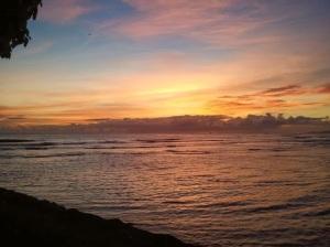 Sunset at Magic Island, Honolulu HI (Picture by: Jason M.A. Walter)